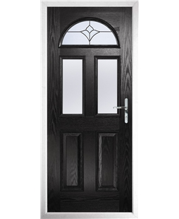 The Glasgow Composite Door in Black with Crystal Tulip Arch