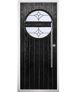 The Xenia Composite Door in Black with Crystal Tulip Arch