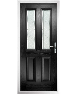 The Cardiff Composite Door in Black with Diamond Cut