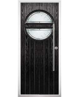 The Xenia Composite Door in Black with Diamond Cut