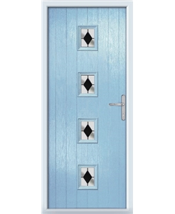 The Uttoxeter Composite Door in Blue (Duck Egg) with Black Diamonds