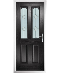 The Aberdeen Composite Door in Black with Classic Glazing