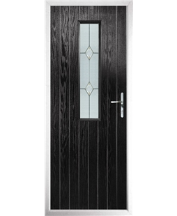 The Sheffield Composite Door in Black with Classic Glazing