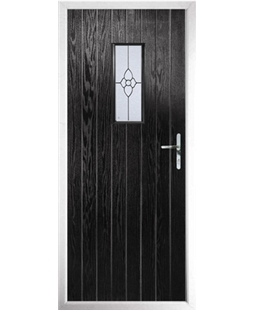 The Taunton Composite Door in Black with Finesse Glazing