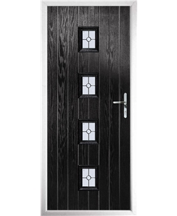 The Uttoxeter Composite Door in Black with Finesse Glazing