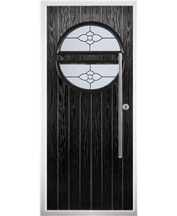 The Xenia Composite Door in Black with Finesse Glazing