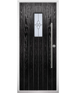 The Zetland Composite Door in Black with Finesse Glazing