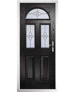 The Glasgow Composite Door in Black with Finesse Glazing