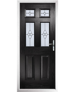 The Oxford Composite Door in Black with Finesse Glazing