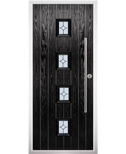 The Leicester Composite Door in Black with Flair Glazing