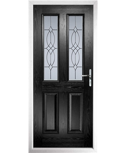 The Cardiff Composite Door in Black with Flair Glazing