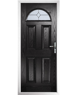 The Derby Composite Door in Black with Flair Glazing