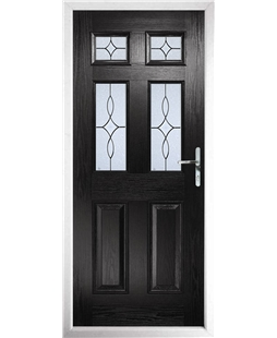 The Oxford Composite Door in Black with Flair Glazing
