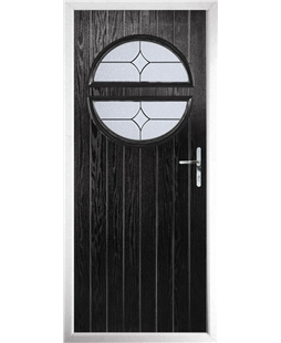 The Queensbury Composite Door in Black with Flair Glazing