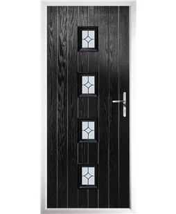 The Uttoxeter Composite Door in Black with Flair Glazing