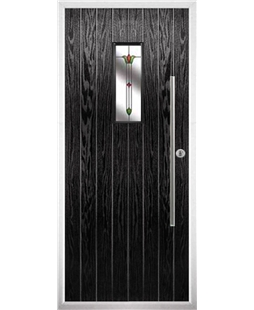The Zetland Composite Door in Black with Fleur