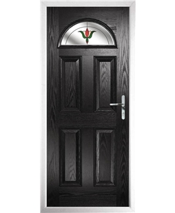 The Derby Composite Door in Black with Fleur