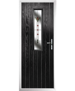 The Sheffield Composite Door in Black with Fleur