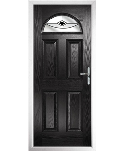 The Derby Composite Door in Black with Black Fusion Ellipse