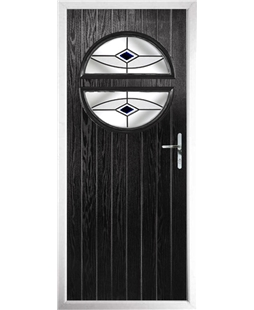 The Queensbury Composite Door in Black with Black Fusion Ellipse