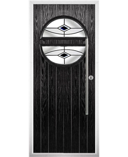 The Xenia Composite Door in Black with Black Fusion Ellipse