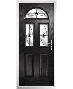 The Glasgow Composite Door in Black with Black Fusion Ellipse
