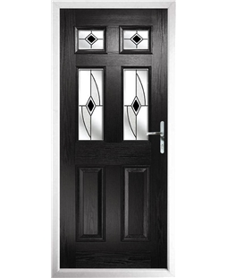 The Oxford Composite Door in Black with Black Fusion Ellipse