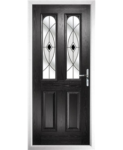 The Aberdeen Composite Door in Black with Black Fusion Ellipse