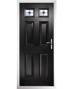 The Ipswich Composite Door in Black with Blue Fusion Ellipse