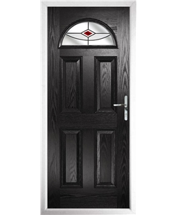 The Derby Composite Door in Black with Red Fusion Ellipse