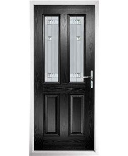 The Cardiff Composite Door in Black with Milan Glazing
