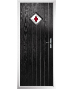 The Reading Composite Door in Black with Red Diamond