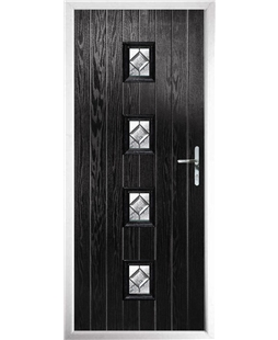 The Uttoxeter Composite Door in Black with Simplicity