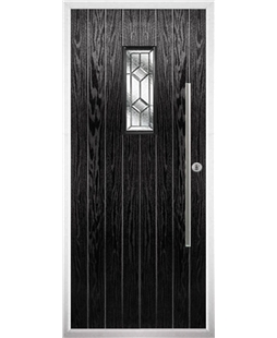 The Zetland Composite Door in Black with Simplicity