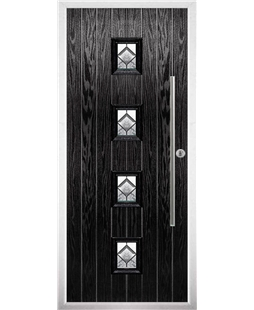 The Leicester Composite Door in Black with Simplicity