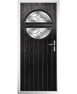 The Queensbury Composite Door in Black with Simplicity