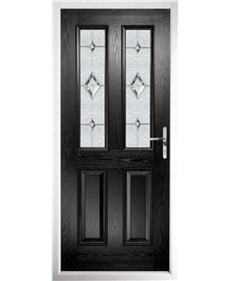 The Cardiff Composite Door in Black with Crystal Diamond