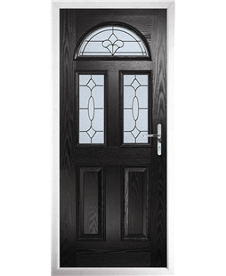 The Glasgow Composite Door in Black with Zinc Art Clarity