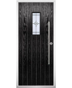 The Zetland Composite Door in Black with Zinc Art Elegance