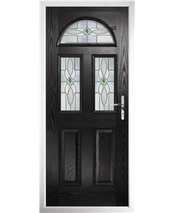 The Glasgow Composite Door in Black with Green Daventry