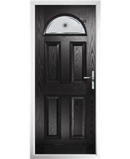 The Derby Composite Door in Black with Etched Star