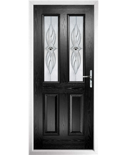 The Cardiff Composite Door in Black with Westminster