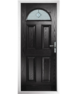 The Derby Composite Door in Black with Cameo