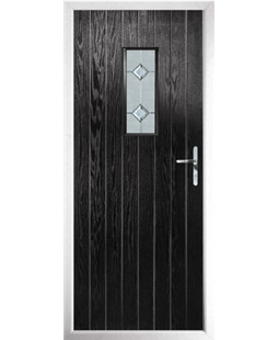 The Taunton Composite Door in Black with Cameo