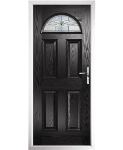 The Derby Composite Door in Black with Black Daventry