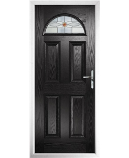 The Derby Composite Door in Black with Red Daventry
