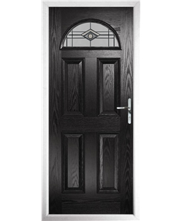 The Derby Composite Door in Black with Fusion Graphite