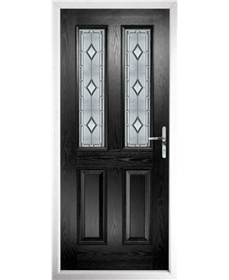 The Cardiff Composite Door in Black with Ice