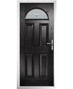 The Derby Composite Door in Black with Luxury Crystal