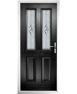 The Cardiff Composite Door in Black with Radiance